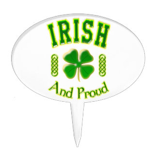 Irish And Proud Cake Topper