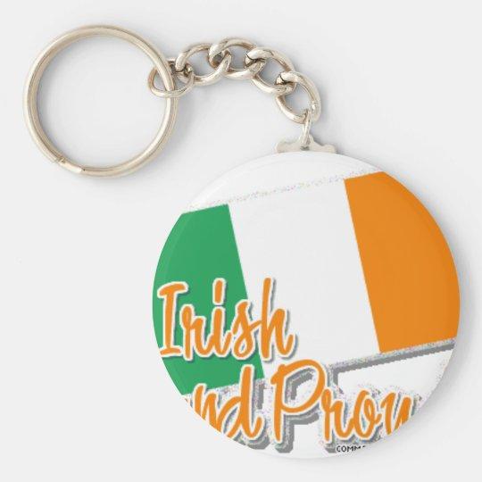 irish and proud keychain