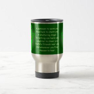 Irish Angel Blessing travel mug