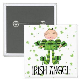 Irish Angel Pinback Button