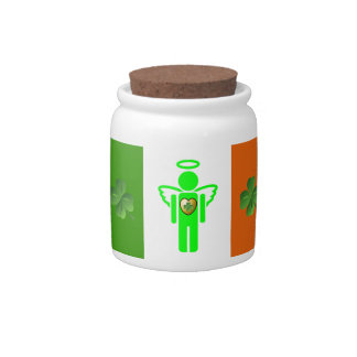 Irish Angel candy jar