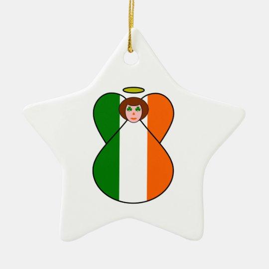Irish Angel Ceramic Ornament