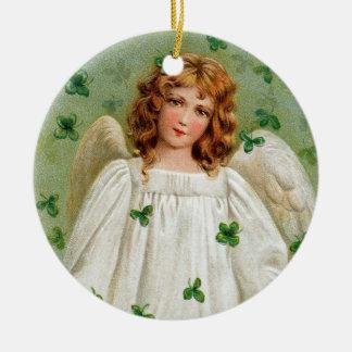 Irish Angel Christmas Ornament. Nollaig Shona Duit Ceramic Ornament