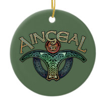 Irish Angel Pendant/Ornament Ceramic Ornament