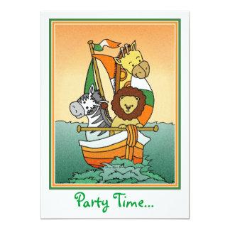 Irish Animal Voyage Invitation