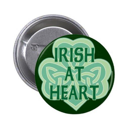Irish At Heart 2 Inch Round Button