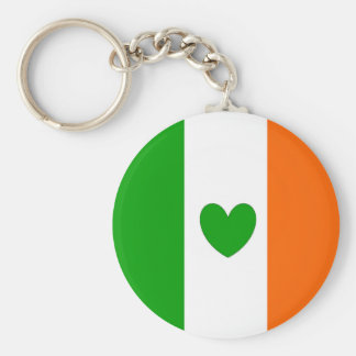 Irish at heart basic round button keychain