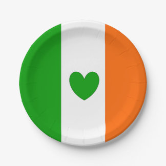 Irish at heart paper plate