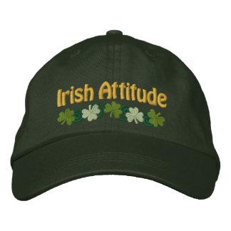Irish Attitude and Shamrocks Embroidered Baseball Hat