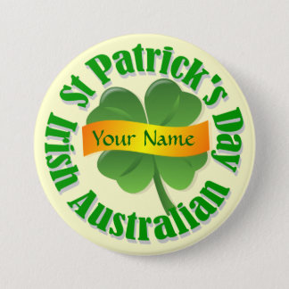 Irish Australian  St Patrick's Button