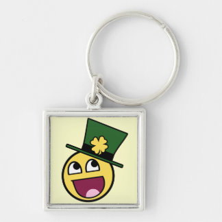 Irish Awesome Smiley Keychain
