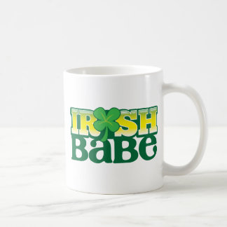 IRISH BABE! cute with a shamrock Coffee Mug