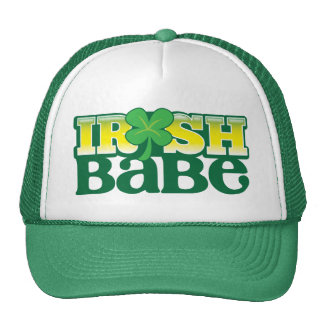 IRISH BABE cute with a shamrock Hats