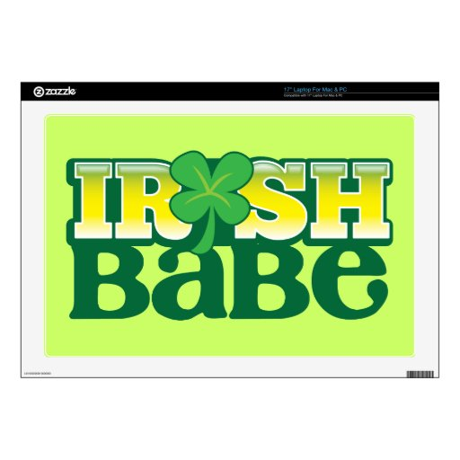 IRISH BABE! cute with a shamrock Laptop Skins