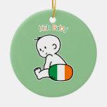 Irish Baby Christmas Ornament