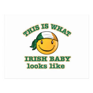 Irish baby designs postcard