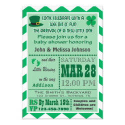 Irish Baby Shower Invitation