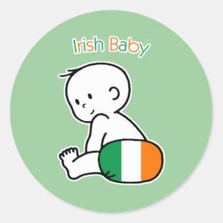 Irish Baby Classic Round Sticker