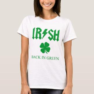 IRISH BACK IN GREEN 4 leaf clover T-Shirt