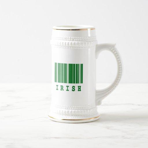 irish barcode design 18 oz beer stein