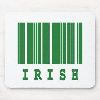 irish barcode design mouse pad