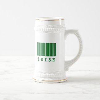 irish barcode design coffee mug