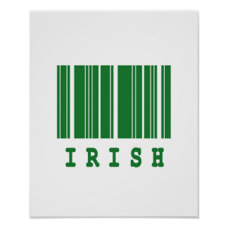 irish barcode design poster