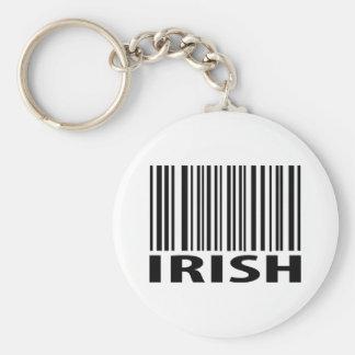 irish barcode keychain