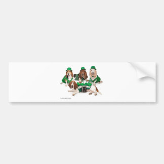Irish Basset hound quartet Car Bumper Sticker