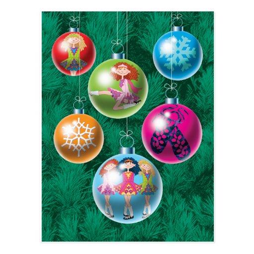 Irish Baubles Christmas Card Postcard