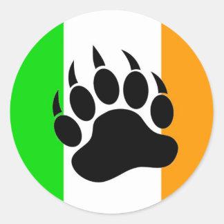 Irish Bear Pride Classic Round Sticker