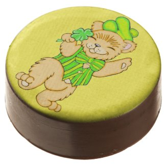 Irish Bear with Shamrock Chocolate Cookie Chocolate Dipped Oreo