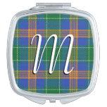 Irish Beauty Clan MacAuliffe Tartan Plaid Compact Mirror