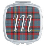 Irish Beauty Clan MacNamara Tartan Plaid Makeup Mirror