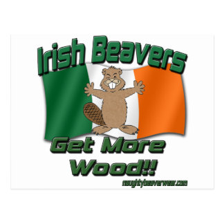Irish Beavers Get More Wood Postcard