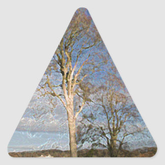 Irish Beech Trees Triangle Sticker