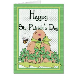 Irish Beehive w Bees Happy St. Patrick's Day Card