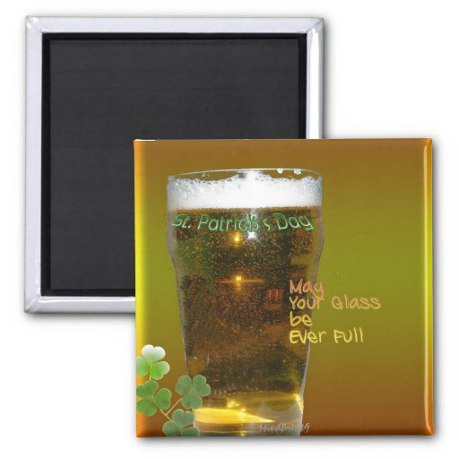 Irish Beer 2 Inch Square Magnet