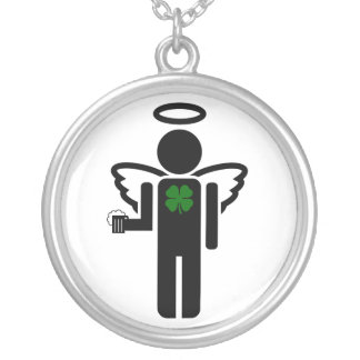 irish beer angel. personalized necklace