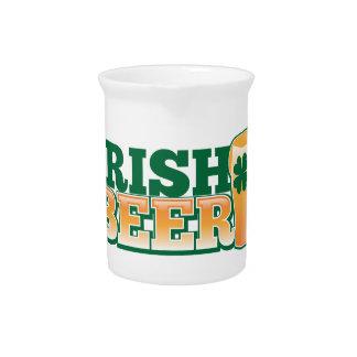 IRISH BEER BEVERAGE PITCHER