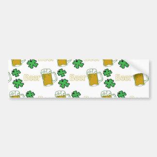 Irish Beer Clovers Bumper Sticker