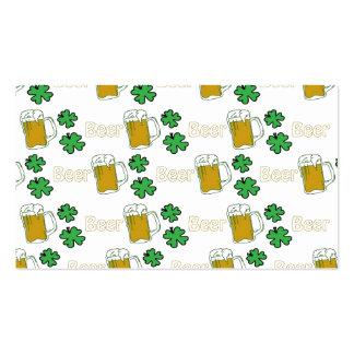 Irish Beer Clovers Business Card Template
