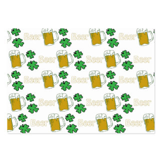 Irish Beer Clovers Business Card