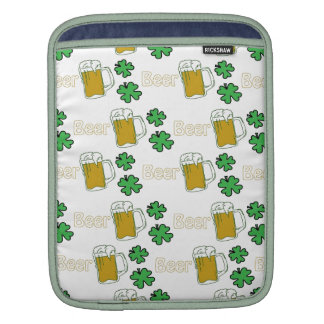 Irish Beer Clovers Sleeve For iPads