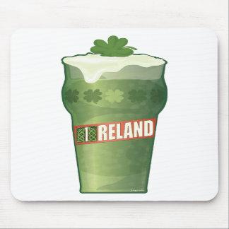 Irish Beer Glass Mouse Pad