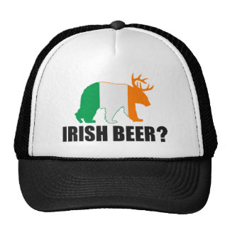 Irish Beer?  Ireland Flag Bear Deer Hat