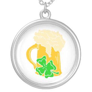 Irish Beer Round Pendant Necklace