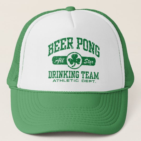 Irish Beer Pong Trucker Hat