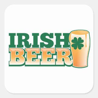 IRISH BEER SQUARE STICKER