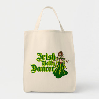 Irish Belly Dancer Grocery Tote Bag